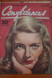 1949 Vintage Magazine Nancy Guild