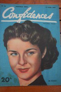 1949 Vintage Magazine Jean Peters
