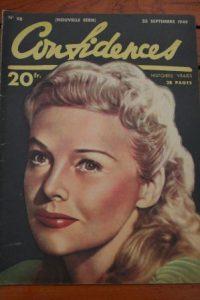1949 Vintage Magazine Madeleine Carroll