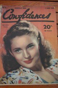 1949 Vintage Magazine Coleen Gray