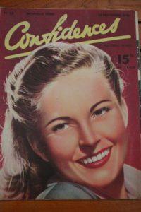 1948 Vintage Magazine Nancy Guild