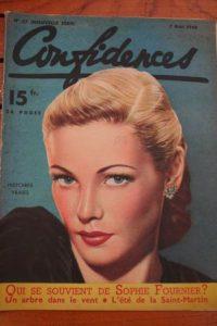 1948 Vintage Magazine Gene Tierney