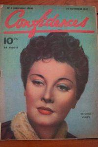 1947 Vintage Magazine Maria Denis