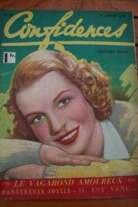 1940 Vintage Magazine Betty Field