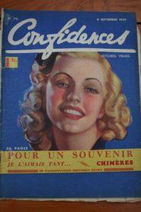 1939 Vintage Magazine Ginger Rogers