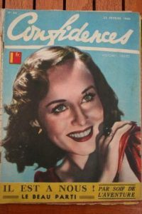 1940 Vintage Magazine Paulette Goddard