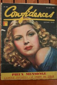 1940 Vintage Magazine Rita Hayworth