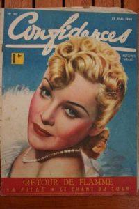 1940 Vintage Magazine Madeleine Carroll