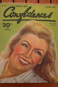 1949 Vintage Magazine Nancy Saunders