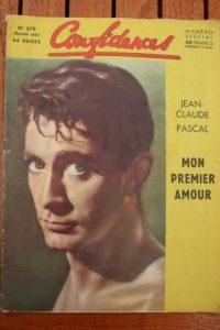 1955 Vintage Magazine Jean Claude Pascal