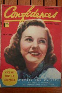 1938 Vintage Magazine Deanna Durbin