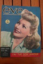 Vintage Magazine 1945 Simone Renant