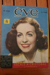 Vintage Magazine 1945 Gaby Andreu