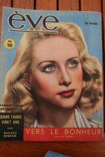 Vintage Magazine 1946 Martine Carol