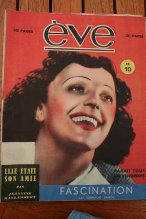 Vintage Magazine 1946 Edith Piaf