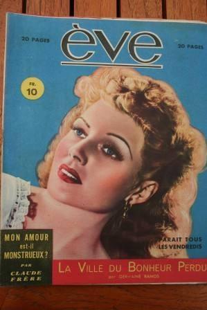 Vintage Magazine 1946 Rita Hayworth