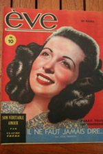 Vintage Magazine 1946 Gaby Sylvia