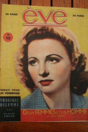 Vintage Magazine 1946 Madeleine Lebeau