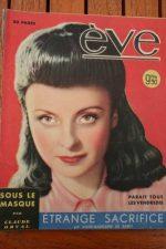 Vintage Magazine 1947 Odette Joyeux