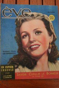 Vintage Magazine 1947 Phyllis Calvert