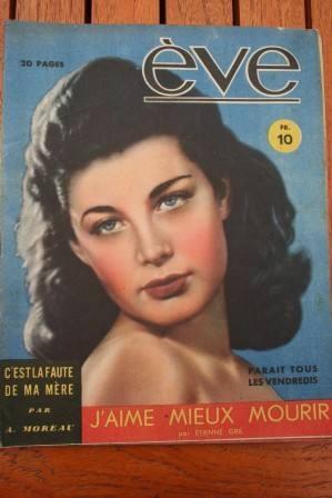 Vintage Magazine 1947 Lise Bourdin