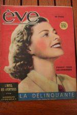 Vintage Magazine 1947 Ingrid Bergman