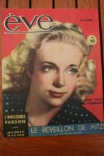 Vintage Magazine 1947 Micheline Presle
