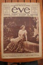1932 Vintage Magazine Marlene Dietrich Greta Garbo Rare