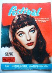 Vintage Magazine 1957 Joan Collins Colette Dereal