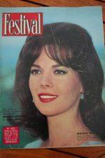 1962 Vintage Magazine Natalie Wood Ingrid Bergman