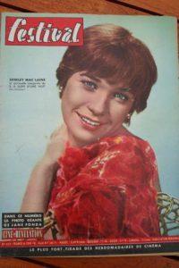 1961 Vintage Magazine Shirley Mac Laine