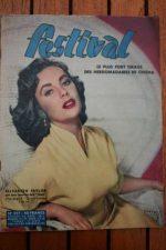 1957 Mag Elizabeth Taylor Zizi Jeanmaire Ingrid Bergman