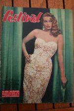 1957 Vintage Magazine Anita Ekberg Victor Mature