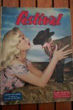 1957 Vintage Magazine Mamie Van Doren Genevieve Kervine