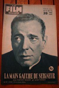 1956 Gene Tierney Humphrey Bogart Left Hand Of God