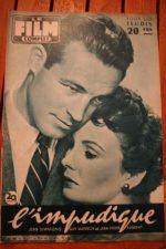 1957 Jean Simmons Guy Madison Tab Hunter