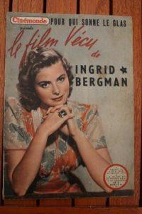 1948 Vintage Magazine Ingrid Bergman