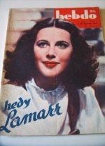 1945 Hedy Lamarr Bessie Love Sonia Henie French Fashion