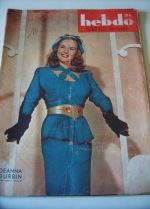 1946 Deanna Durbin Lois Gollier French Fashion Mode