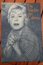 Original Prog Giulietta Masina Cabiria Nights Fellini
