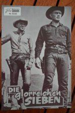 Movie Prog Magnificent Seven Yul Brynner Steve Mc Queen