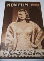1958 Rita Hayworth Kim Novak Frank Sinatra Dandridge