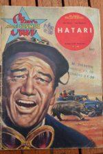 1963 Vintage Magazine Hatari! John Wayne Hardy Kruger Elsa Martinelli