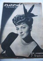 Rare Vintage Magazine 1947 Olivia De Havilland