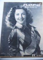 Rare Vintage Magazine 1947 Nadine Alari