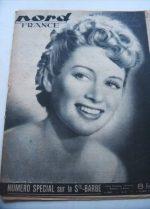 Rare Vintage Magazine 1947 Martine Carol