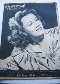 Rare Vintage Magazine 1948 Irene Dunne