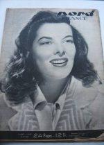Rare Vintage Magazine 1948 Katharine Hepburn