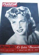 Rare Vintage Magazine 1950 Arlette Poirier