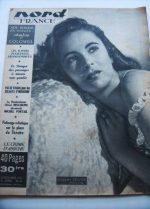 Rare Vintage Magazine 1951 Elizabeth Taylor